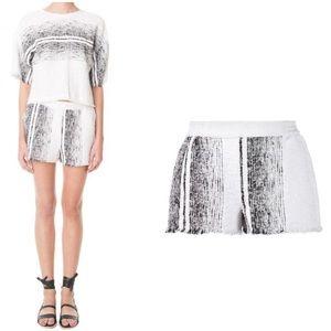TIBI - Striped terry shorts, L